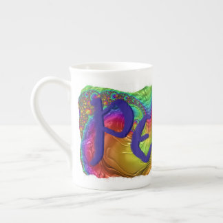 Groovy Bone China Peace Mug