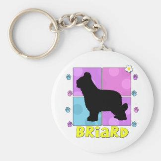 Groovy Briard Key Ring