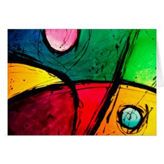 Groovy Bright Abstract Acrylic Art Card