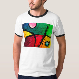 Groovy Bright Abstract Acrylic Art T Shirts