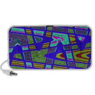 groovy bright blue yellow abstract iPod speaker