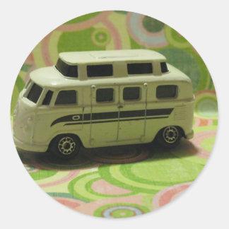 Groovy Bus Round Sticker