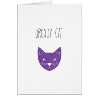 GROOVY CAT card illustration cats