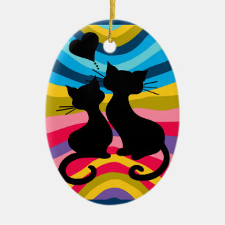 Groovy Cats Christmas Ornament
