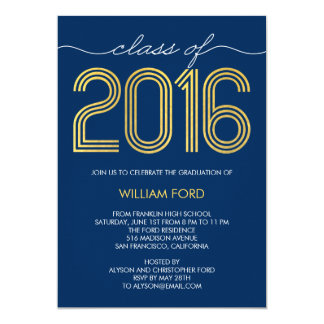 Groovy Charm EDITABLE COLOR Graduation Invitation