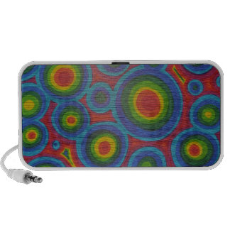 Groovy Circles -  Bright Abstract Art Pattern Mini Speakers
