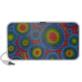Groovy Circles - Bright Abstract Art Pattern iPod Speaker