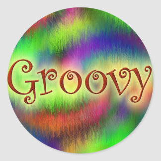 Groovy Classic Round Sticker