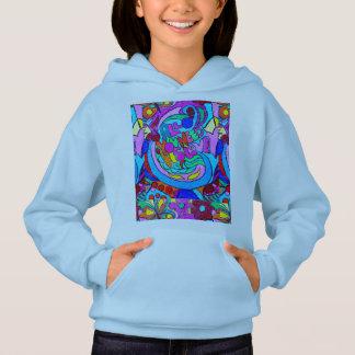 groovy colored hippie love hoodie
