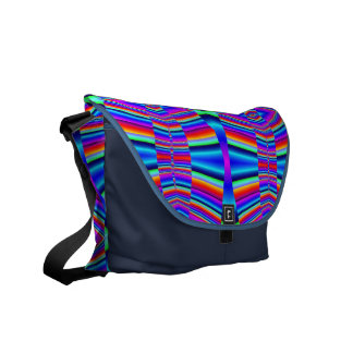 Groovy colorful pattern abstract courier bags
