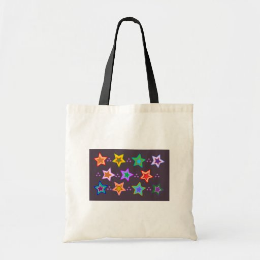 Groovy Colorful Rainbow Stars bag