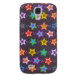 Groovy Colorful Rainbow Stars iphone 3 case