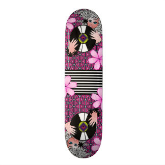Groovy Cool & Girly Custom Skateboard