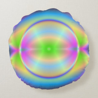 Groovy Crystal Planet Round Cushion