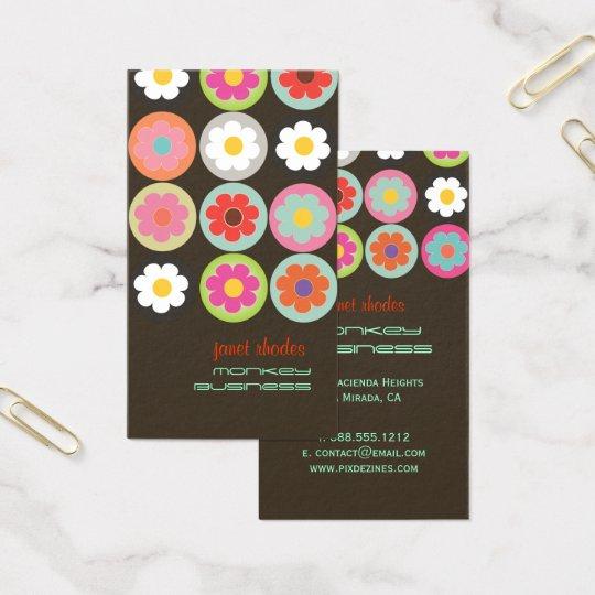 Groovy Daisies, fully customisable Business Card