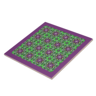 Groovy Decorative Geometric Abstract Pattern Art Tile