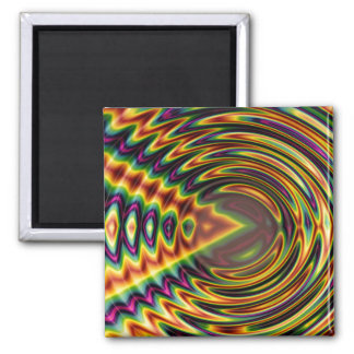 Groovy Far Out Fractal Refrigerator Magnet