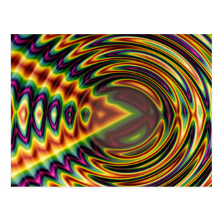 Groovy Far Out Fractal Post Cards