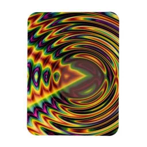 Groovy Far Out Fractal Flexible Magnet