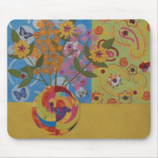 Groovy Floral Mousepad