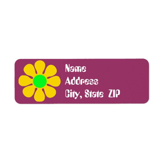 Groovy Flower Address Labels