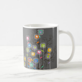 Groovy Flower Garden Whimsical Colorful Floral Coffee Mug