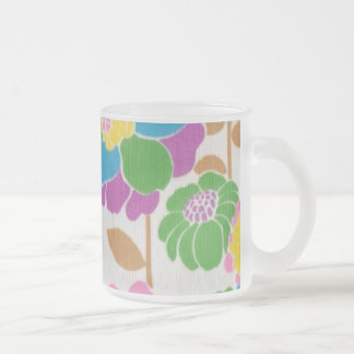 Groovy Flower Power Frosted Glass Mug