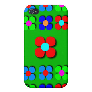Groovy Flower Power iPhone4 Case iPhone 4/4S Cover