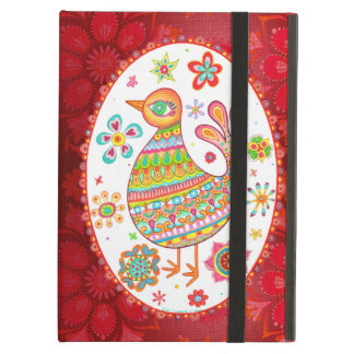 Groovy Folk Art Bird iPad Case with Kickstand