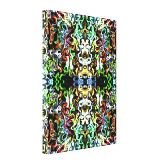 Groovy Fun Psychedelic abstract 2Y21 Canvas Print