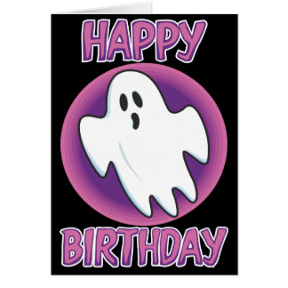 Groovy Ghost Birthday Card
