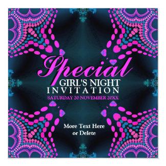 Groovy Girls Night Purple Hot Pink Party Invitatio 13 Cm X 13 Cm Square Invitation Card