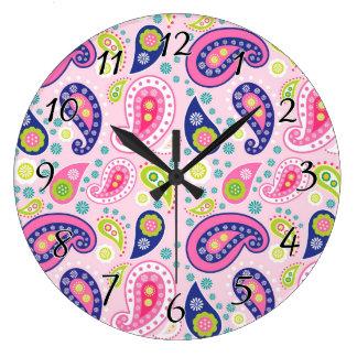 Groovy Girly Paisley Clocks