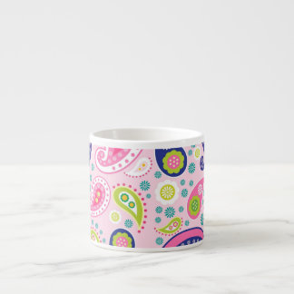 Groovy Girly Paisley Espresso Cup