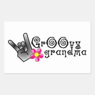 Groovy Grandma Rectangular Sticker