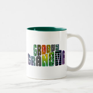 Groovy Grandma Two-Tone Mug
