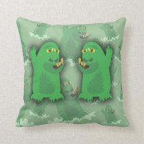 Groovy Green Monster Pals Cushion