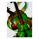 Groovy, Green Violin Poster