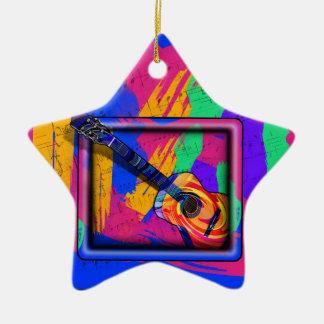 GROOVY GUITAR CHRISTMAS TREE ORNAMENTS