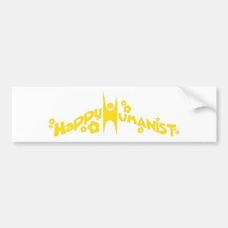 Groovy Happy Humanist Gold Bumper Sticker