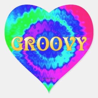 Groovy Heart Stickers
