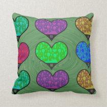 Groovy Hearts Made of Lava Cushion