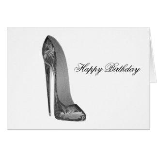 Groovy High Heel Stiletto Shoe Art Card