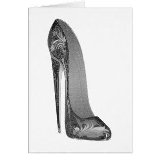 Groovy High Heel Stiletto Shoe Art Gifts Card
