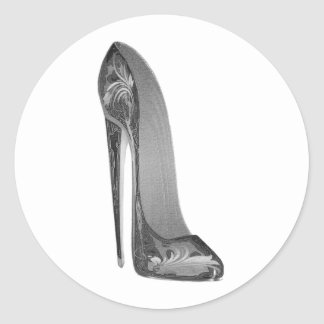 Groovy High Heel Stiletto Shoe Art Gifts Classic Round Sticker