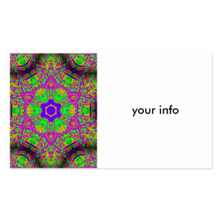 groovy hippie-style pack of standard business cards