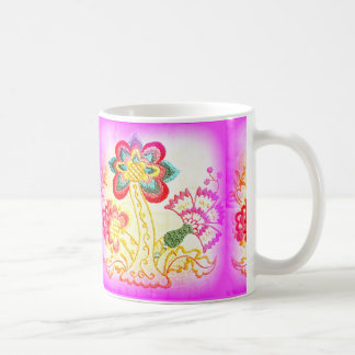 groovy hippie-style palm tree coffee mug