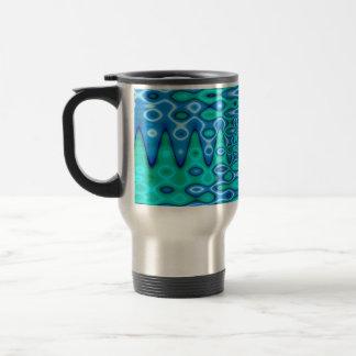 groovy horizon blue 15 oz stainless steel travel mug