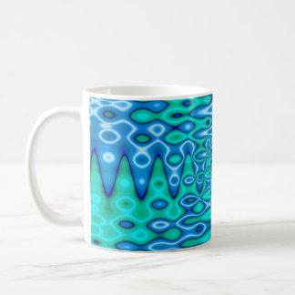 groovy horizon blue classic white coffee mug