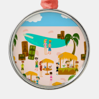 Groovy Jet Set Pool Party Christmas Ornament